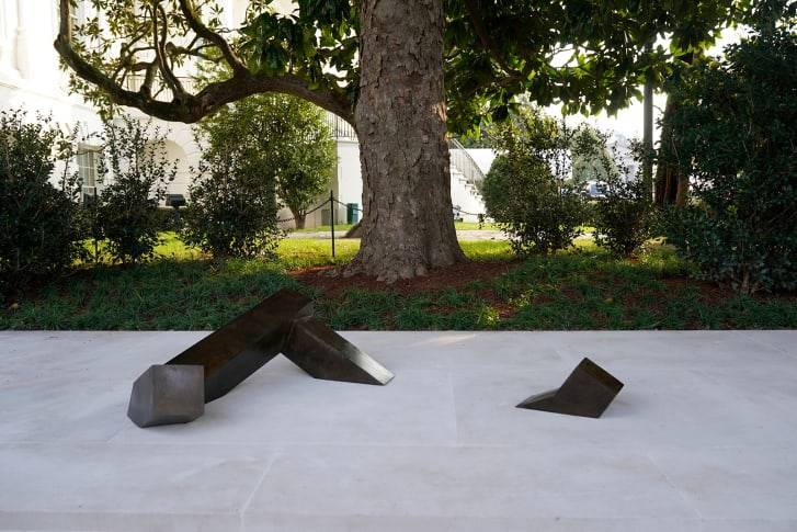 """""""Floor Frame"""" is displayed in the White House Rose Garden on November 21. Credit: Jacquelyn Martin/AP"""